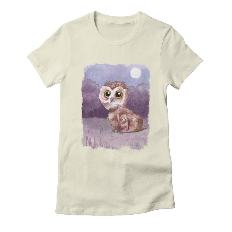 Owlbear Baby Women's Fitted T-Shirt by Melisa Des Rosiers Artist Shop
