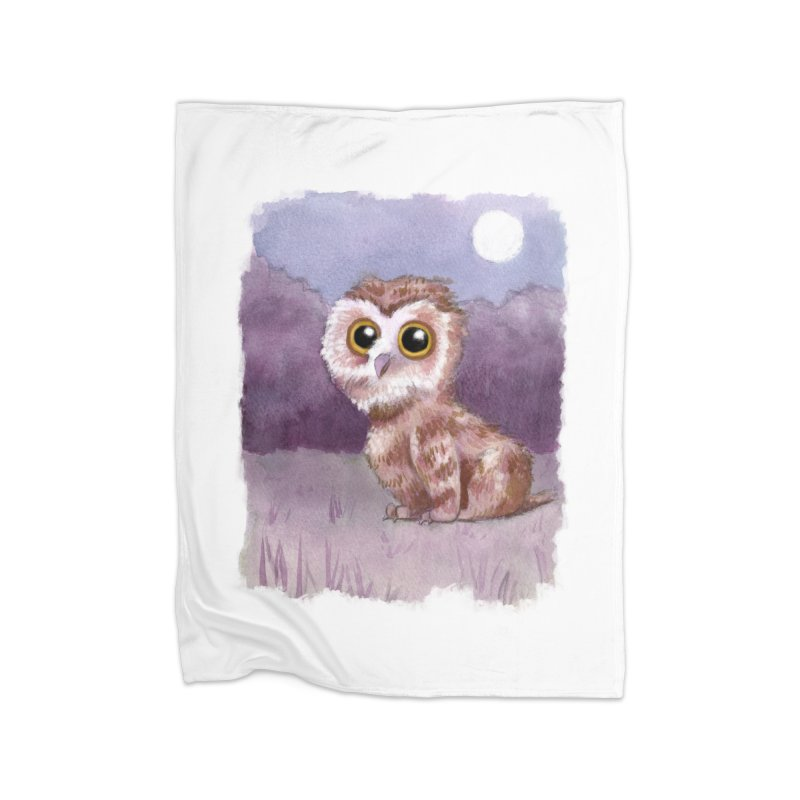 Owlbear Baby Home Fleece Blanket Blanket by Melisa Des Rosiers Artist Shop