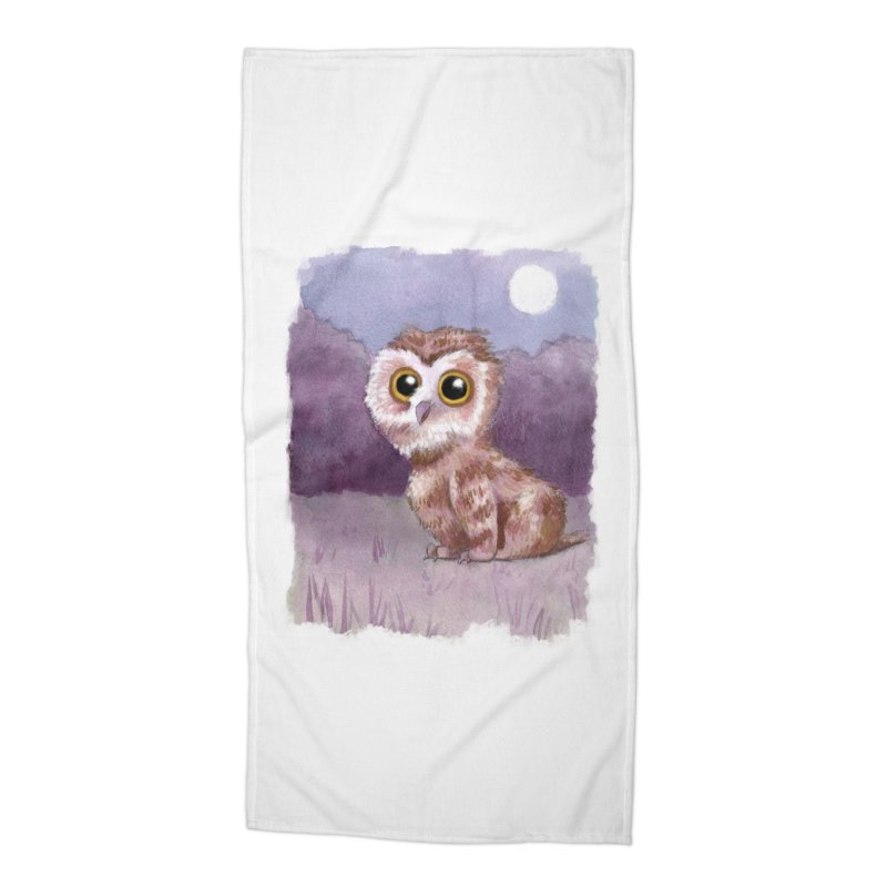 Owlbear Baby Accessories Beach Towel by Love for Ink Artist Shop