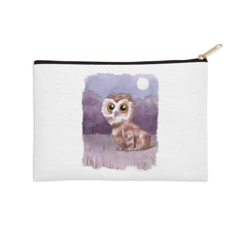 Owlbear Baby Accessories Zip Pouch by Melisa Des Rosiers Artist Shop