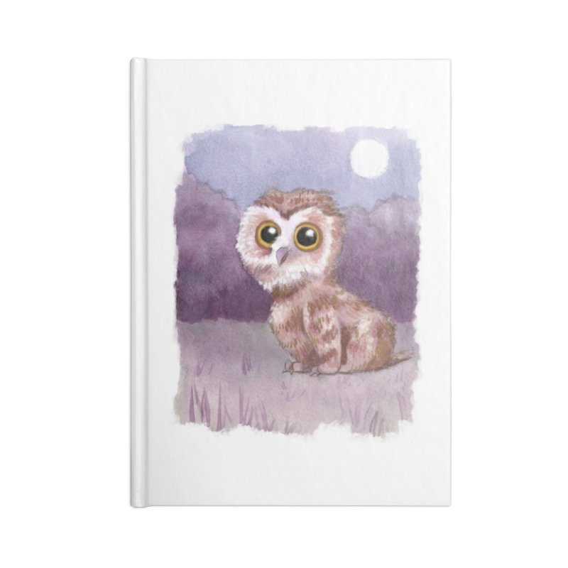 Owlbear Baby Accessories Lined Journal Notebook by Melisa Des Rosiers Artist Shop