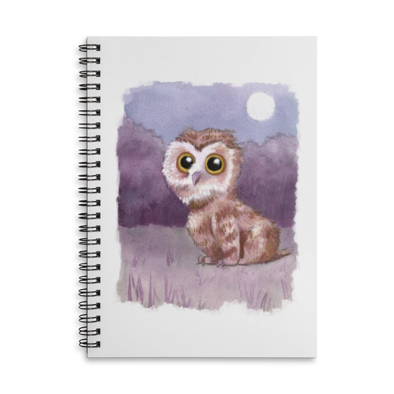 Owlbear Baby Accessories Lined Spiral Notebook by Melisa Des Rosiers Artist Shop