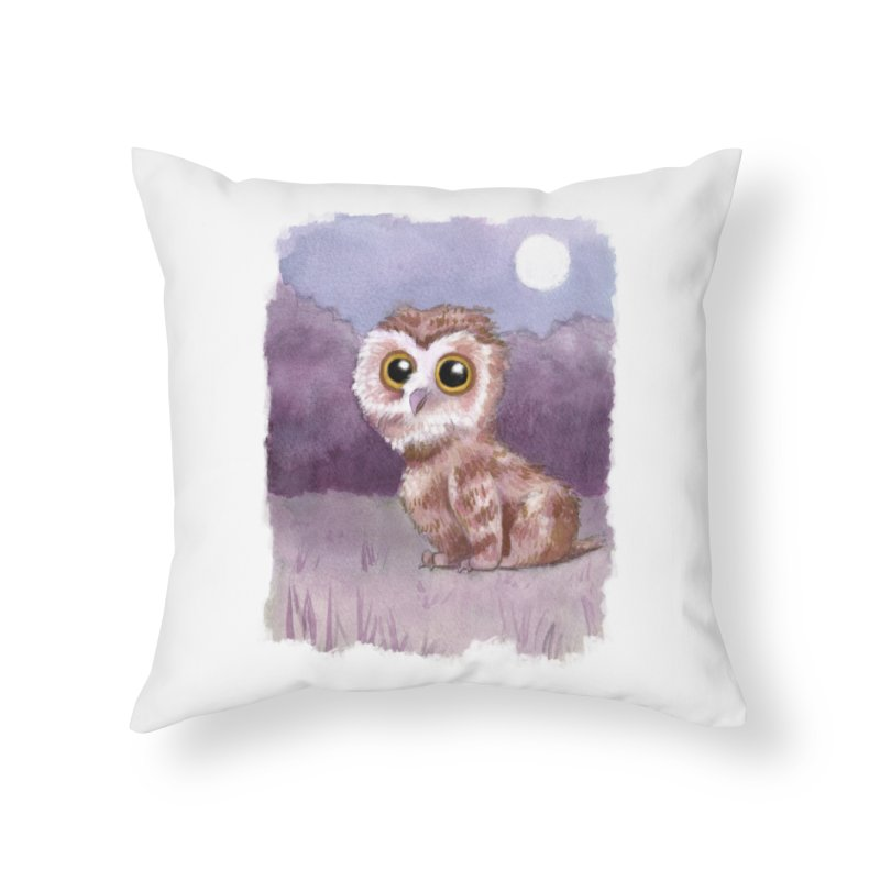 Owlbear Baby Home Throw Pillow by Love for Ink Artist Shop