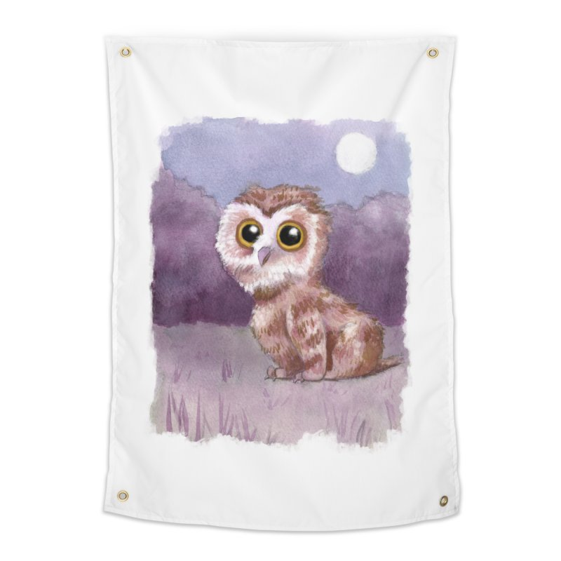 Owlbear Baby Home Tapestry by Melisa Des Rosiers Artist Shop
