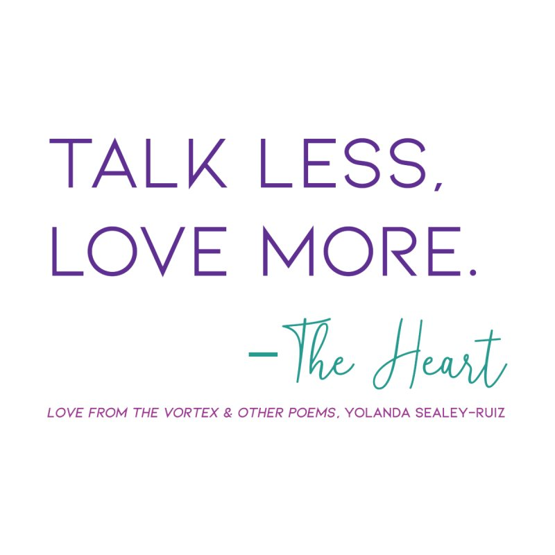 Talk less, Love more - jewel Women's Tank by Love from the Vortex from Kaleidoscope Vibrations