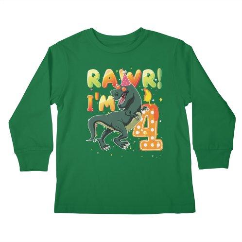 Dinosaur Birthday Shirt 4th Years Old