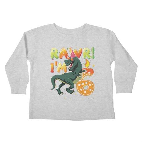 Image For Kids Dinosaur Birthday Shirt 6 Years Old Rawr Im T