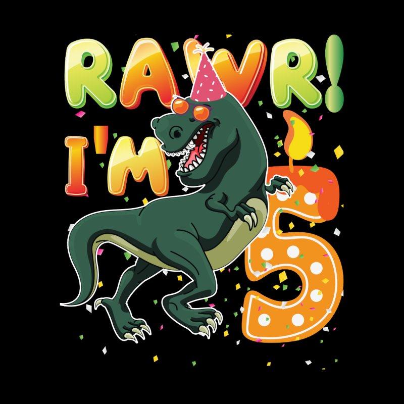 Dinosaur Birthday Shirt 5 Years Old Rawr Im T Kids