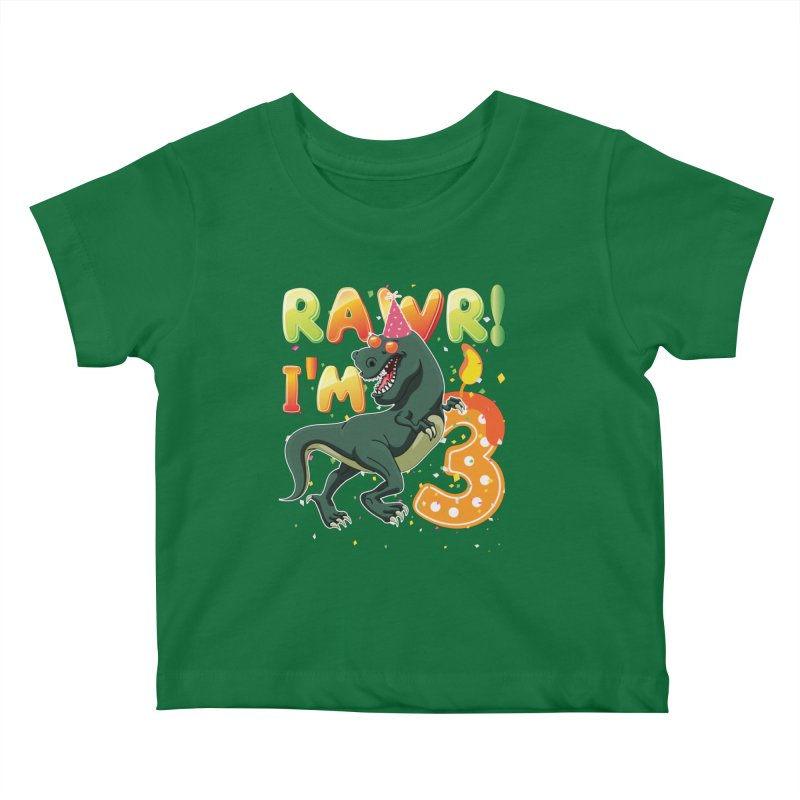 Dinosaur Birthday Shirt 3 Years Old Rawr Im T Kids Baby