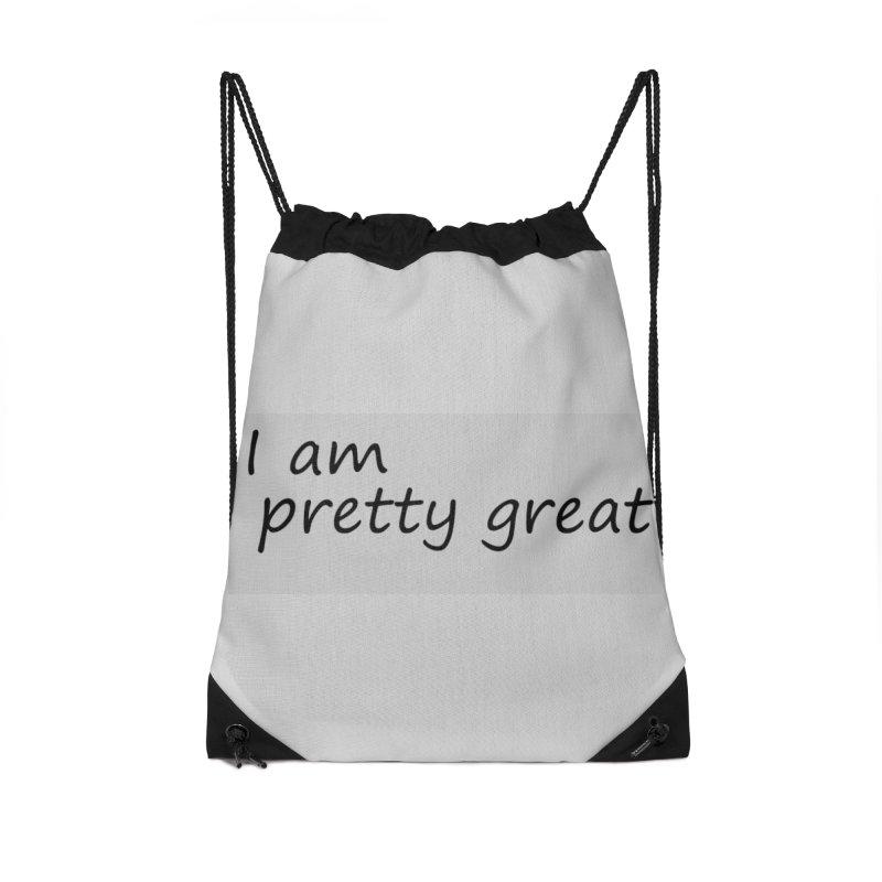 pretty great Accessories Drawstring Bag Bag by loveunbroken's Artist Shop