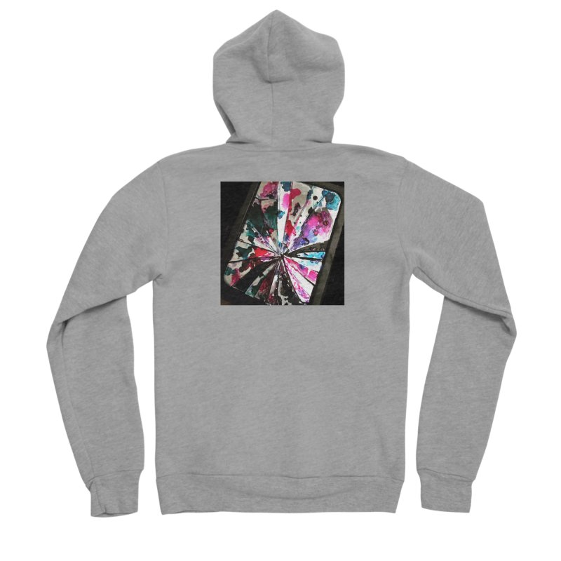 shattered sight Women's Sponge Fleece Zip-Up Hoody by loveunbroken's Artist Shop