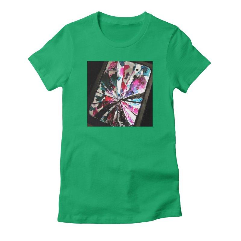 shattered sight Women's Fitted T-Shirt by loveunbroken's Artist Shop