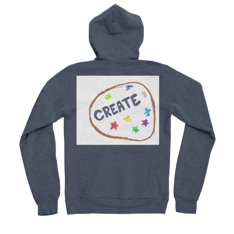 create Women's Sponge Fleece Zip-Up Hoody by loveunbroken's Artist Shop