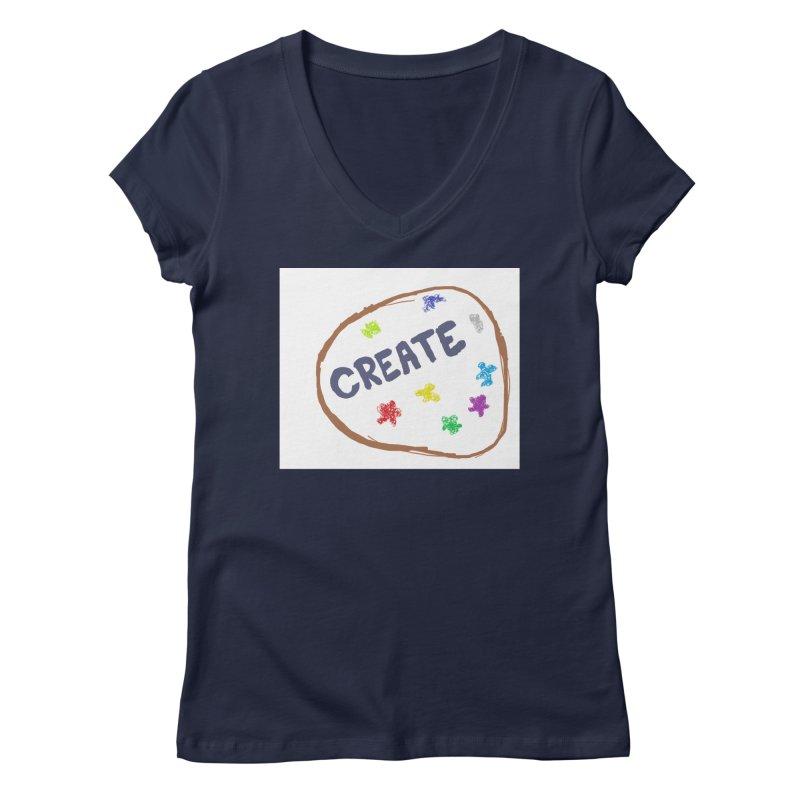 create Women's Regular V-Neck by loveunbroken's Artist Shop