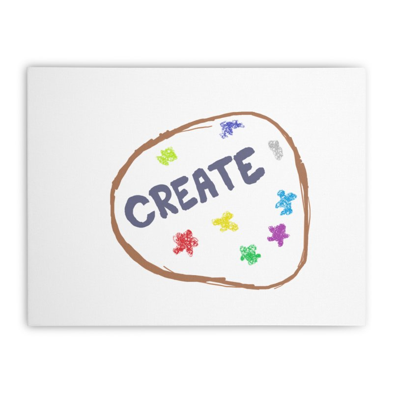 create Home Stretched Canvas by loveunbroken's Artist Shop