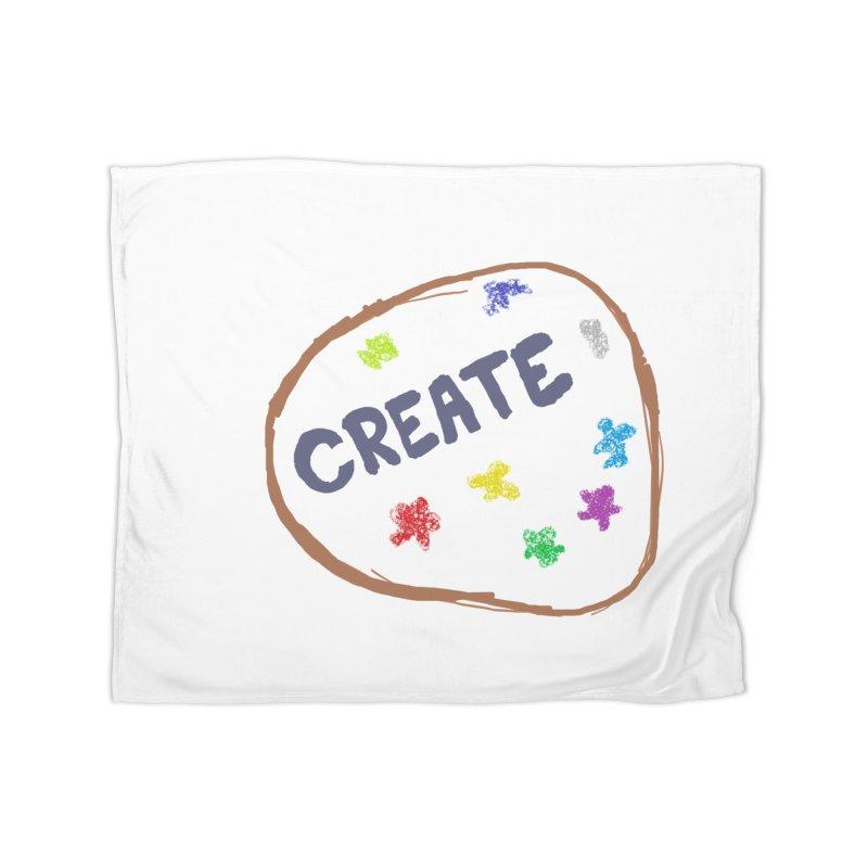 create Home Fleece Blanket Blanket by loveunbroken's Artist Shop