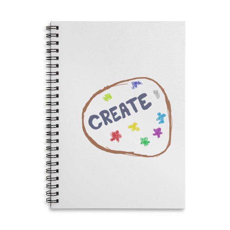 create Accessories Lined Spiral Notebook by loveunbroken's Artist Shop