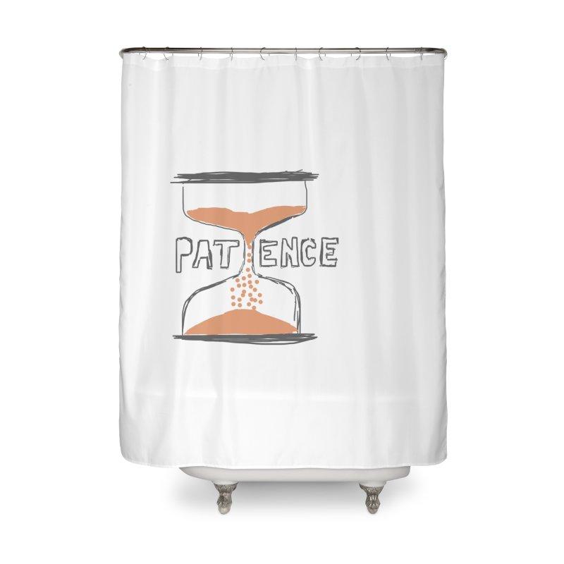 patience Home Shower Curtain by loveunbroken's Artist Shop