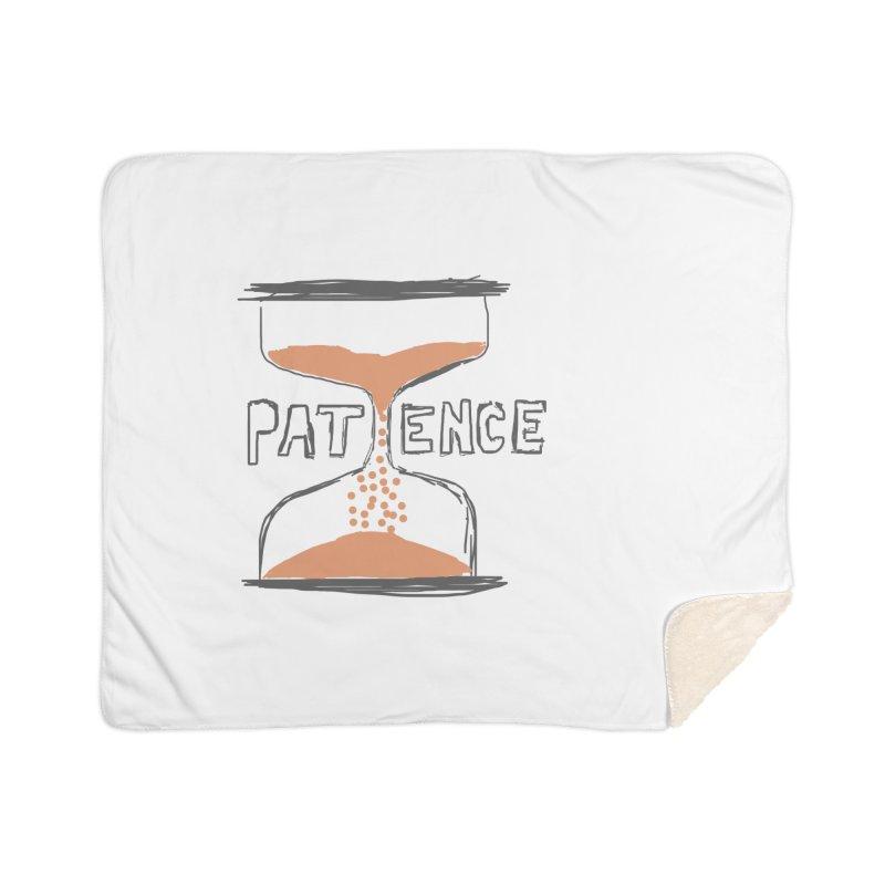 patience Home Sherpa Blanket Blanket by loveunbroken's Artist Shop