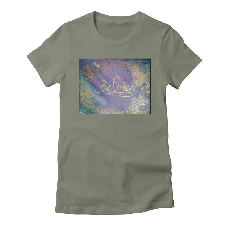 beloved Women's Fitted T-Shirt by loveunbroken's Artist Shop