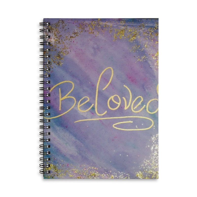 beloved Accessories Lined Spiral Notebook by loveunbroken's Artist Shop