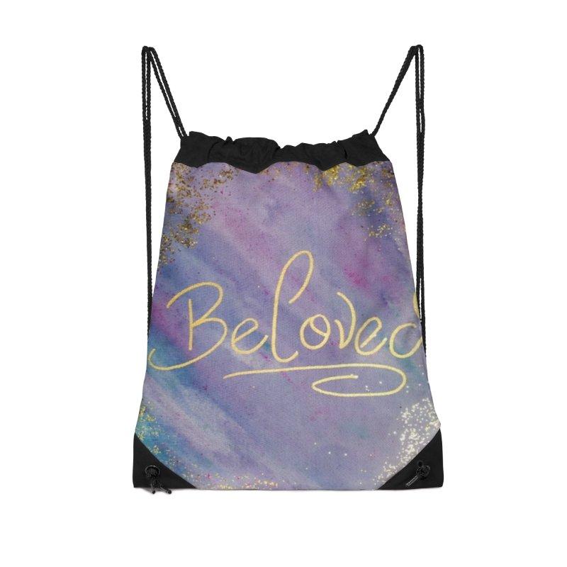 beloved Accessories Drawstring Bag Bag by loveunbroken's Artist Shop