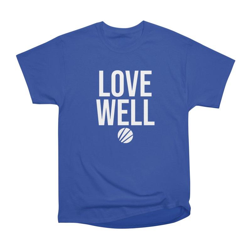 Lovewell Message (White Text) Men's T-Shirt by Love Well's Artist Shop