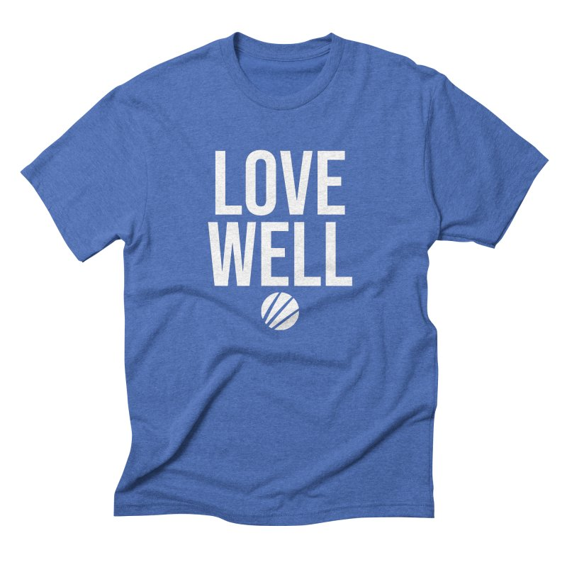 Lovewell Message (White Text) Men's Triblend T-Shirt by Lovewell's Artist Shop