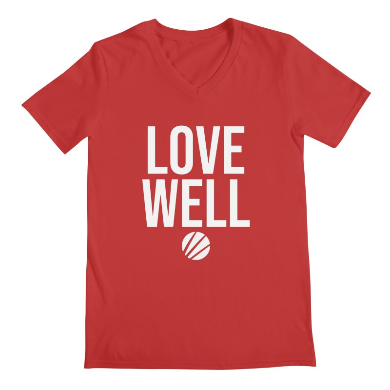 Lovewell Message (White Text) Men's V-Neck by Love Well's Artist Shop