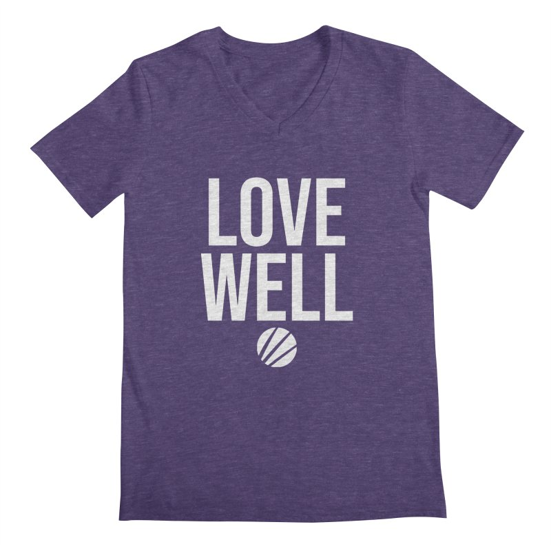 Lovewell Message (White Text) Men's Regular V-Neck by Lovewell's Artist Shop