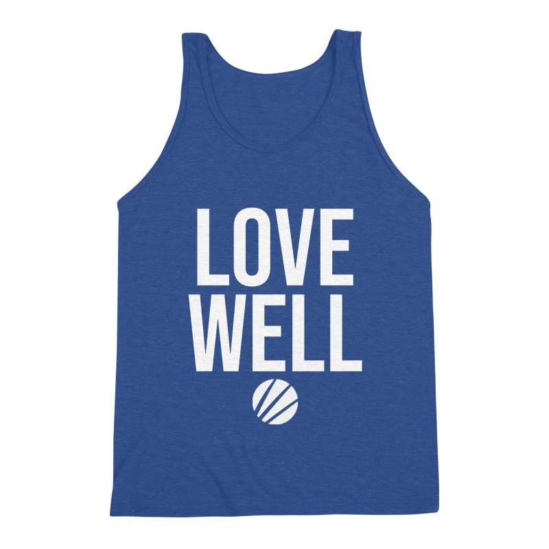 Lovewell Message (White Text) Men's Tank by Love Well's Artist Shop