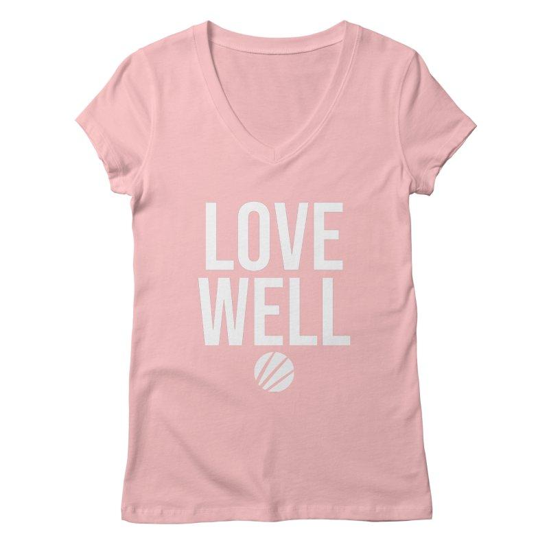 Lovewell Message (White Text) Women's Regular V-Neck by Lovewell's Artist Shop