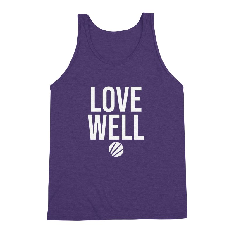 Lovewell Message (White Text) Men's Triblend Tank by Lovewell's Artist Shop