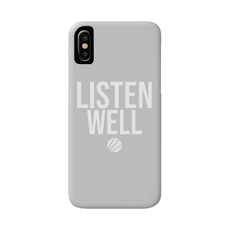 Listenwell Message (White Text) Accessories Phone Case by Love Well's Artist Shop