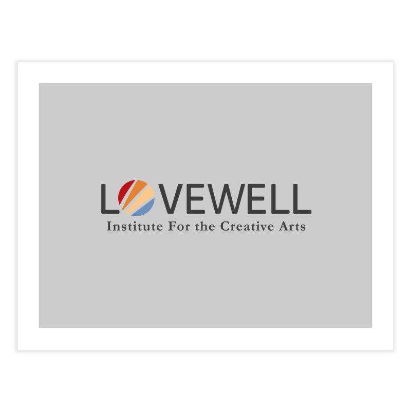 Lovewell Logo 2018 Home Fine Art Print by Love Well's Artist Shop
