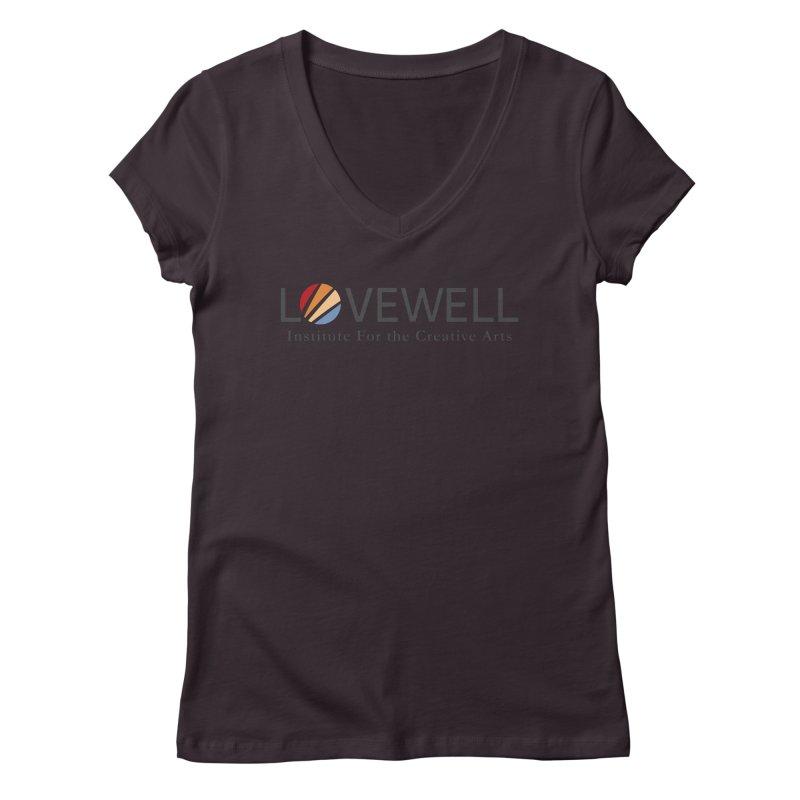 Lovewell Logo 2018 Women's V-Neck by Love Well's Artist Shop