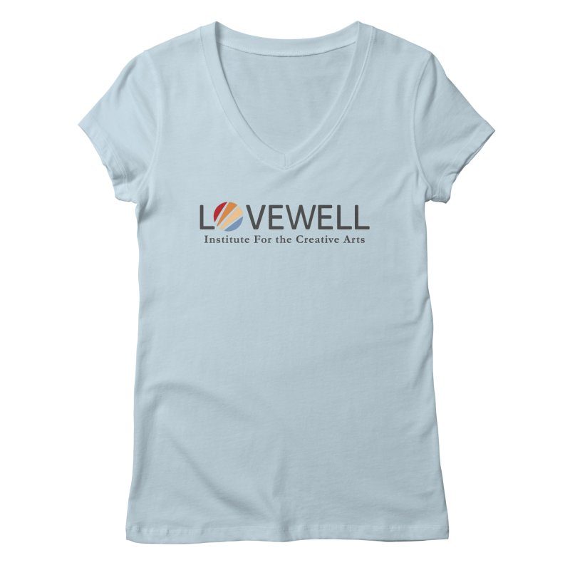 Lovewell Logo 2018 Women's V-Neck by Love Well's Artist Shop