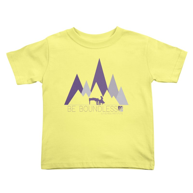 Be Boundless (by Tobi Waldron) Kids Toddler T-Shirt by Lovewell's Artist Shop