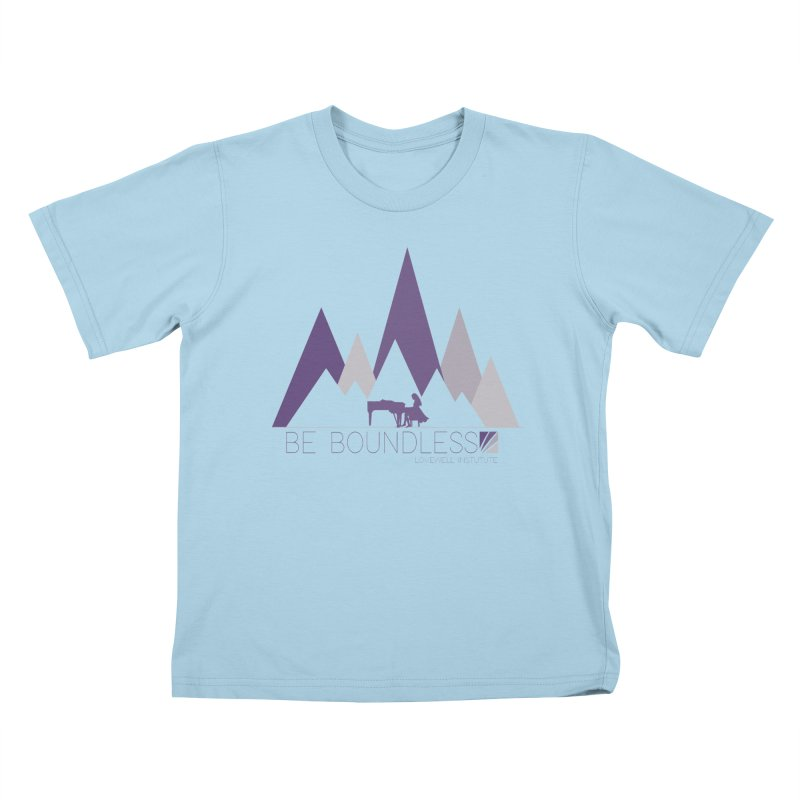 Be Boundless (by Tobi Waldron) Kids T-Shirt by Lovewell's Artist Shop