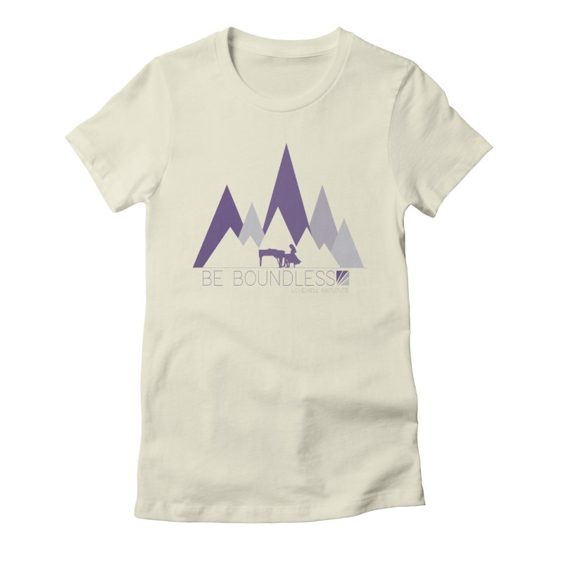Be Boundless (by Tobi Waldron) Women's Fitted T-Shirt by Love Well's Artist Shop