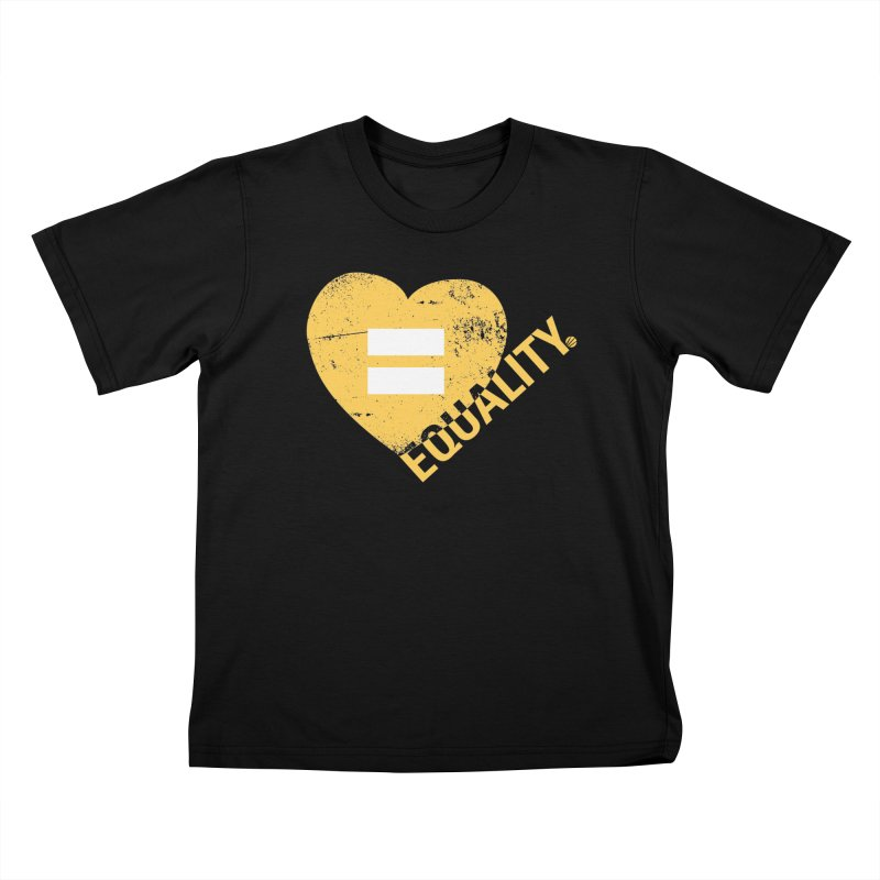 Equality Kids T-Shirt by Lovewell's Artist Shop