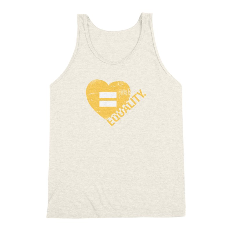 Equality Men's Triblend Tank by Lovewell's Artist Shop