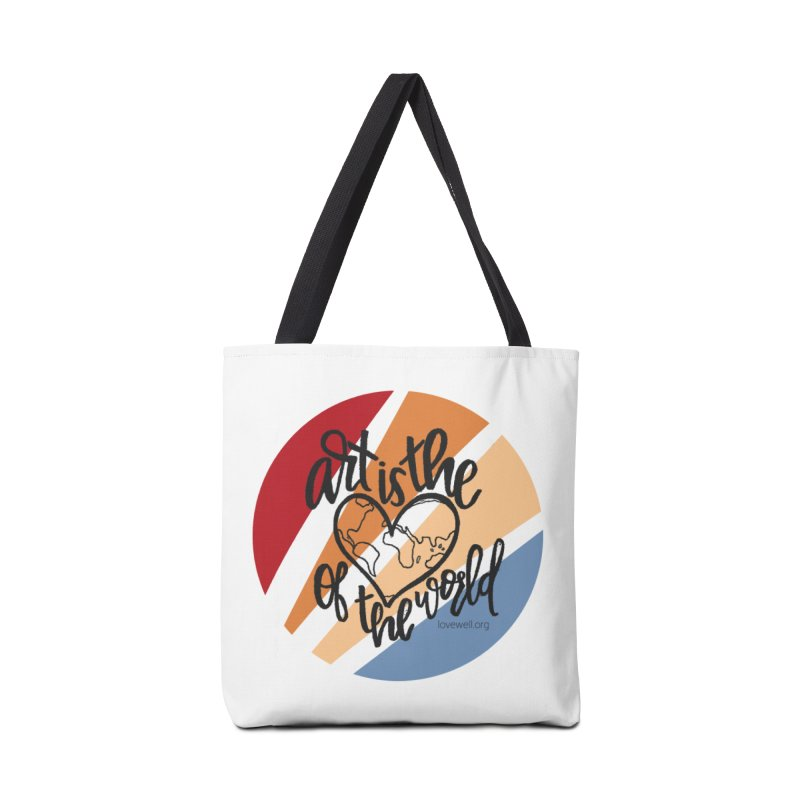 Art is the Heart of the World Accessories Bag by Lovewell's Artist Shop