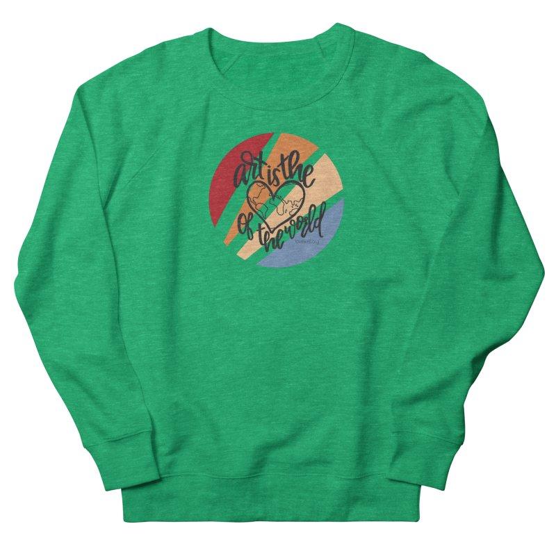 Art is the Heart of the World Men's Sweatshirt by Lovewell's Artist Shop
