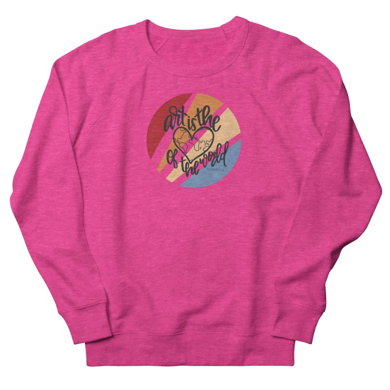 Art is the Heart of the World Men's French Terry Sweatshirt by Love Well's Artist Shop