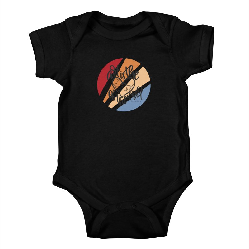 Art is the Heart of the World Kids Baby Bodysuit by Love Well's Artist Shop