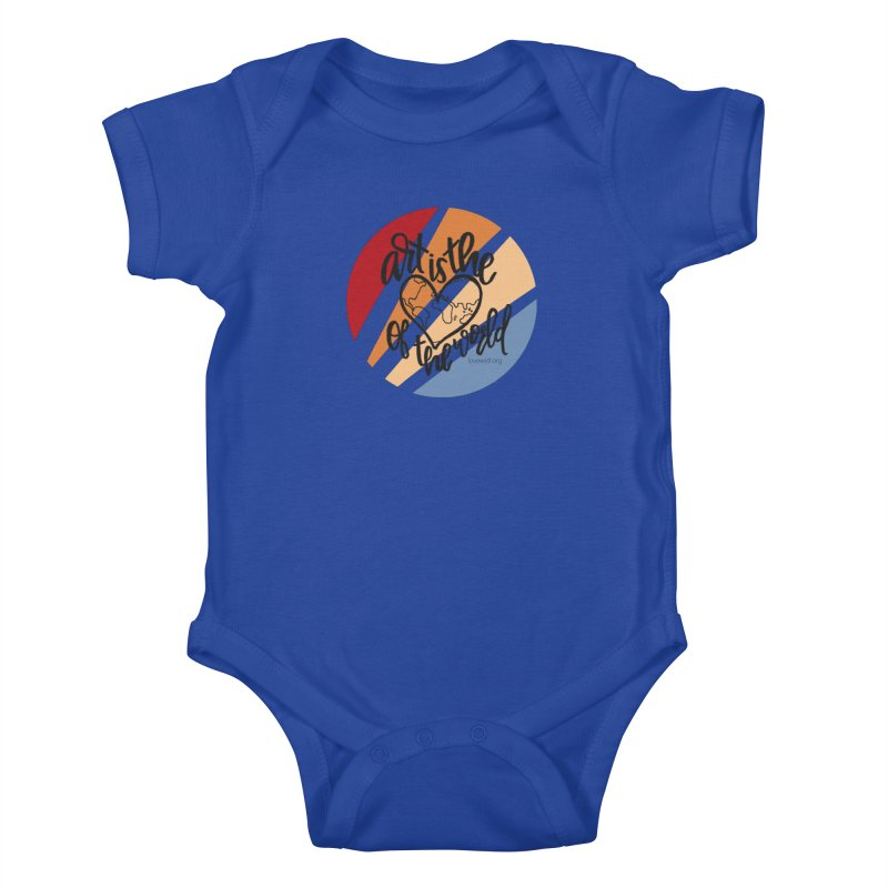 Art is the Heart of the World Kids Baby Bodysuit by Lovewell's Artist Shop
