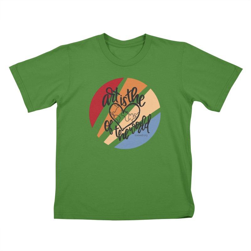 Art is the Heart of the World Kids T-Shirt by Lovewell's Artist Shop