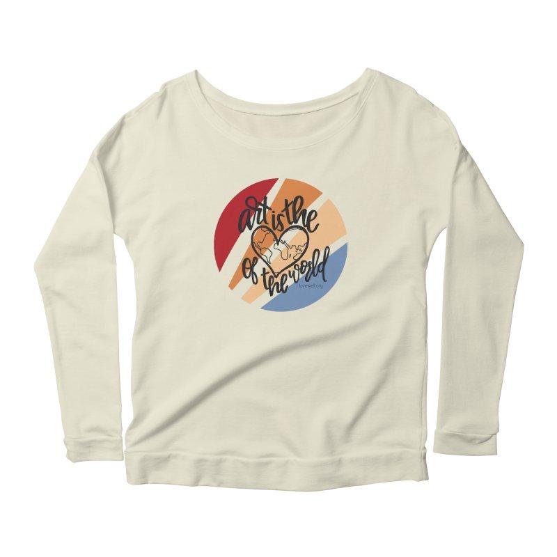 Art is the Heart of the World Women's Scoop Neck Longsleeve T-Shirt by Lovewell's Artist Shop