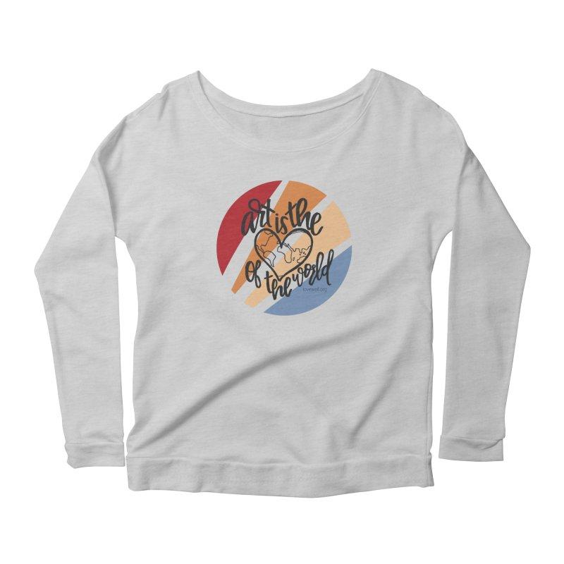 Art is the Heart of the World Women's Longsleeve T-Shirt by Love Well's Artist Shop